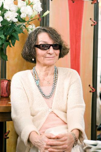 写真:オルガ・ベルルッティ イタリア生まれ。1895年創業のブランドを率いる=福田栄美子氏撮影