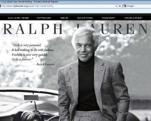 写真:「ファッションはあまりにも速過ぎる。スタイルは永遠だ」と説くラルフ・ローレン