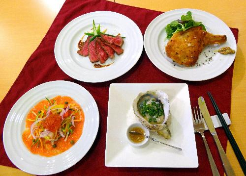 写真:「ビストロ 庵 タンドール」のアラカルト料理