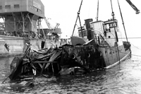 1963年2月26日未明、神戸港外の和田岬南西3キロ沖で、神戸港に入港しようとした宝海運の阪神-鳴門間定期貨客船「ときわ丸」と、出港したばかりの大同海運のニューヨーク航路貨物船「りっちもんど丸」が衝突