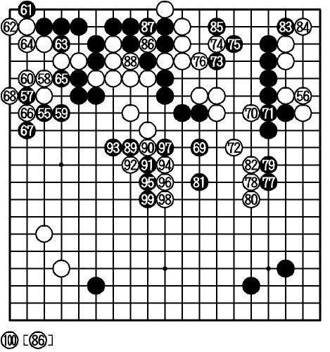 図:黒・井山—白・山下 途中図(55−100)