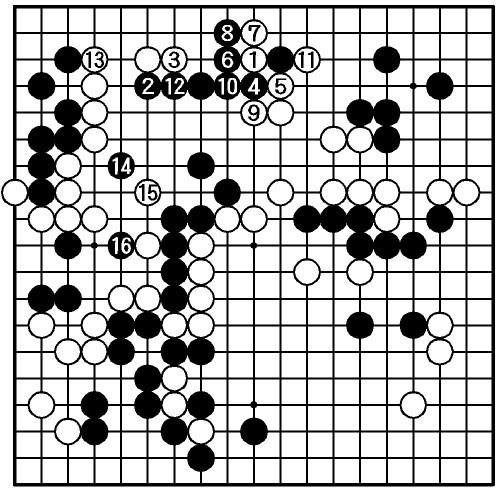 写真:【第3局】黒・羽根—白・山下
