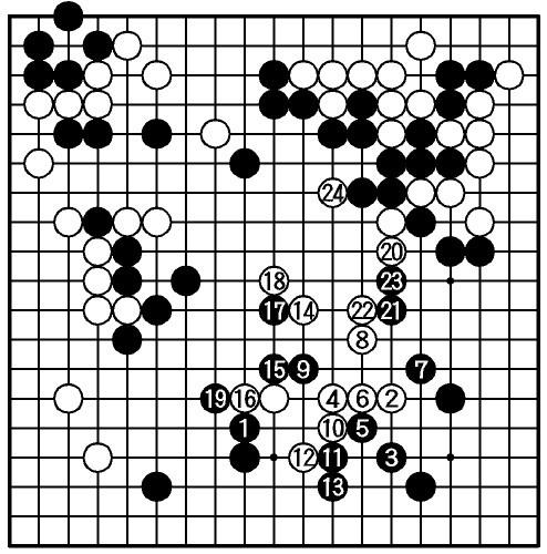 図:白・余正麒二段  黒・洪清泉初段