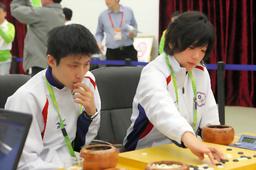 写真:台湾チームで出場した張栩、謝依旻ペア=樫山晃生撮影