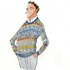 「フェア・アイル・セーターの研究」 伝統織柄をアクセントに