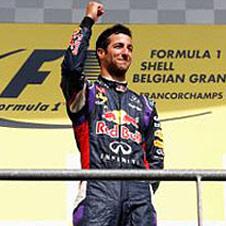F1第12戦ベルギーGP速報、レッドブルのリカルド2連勝