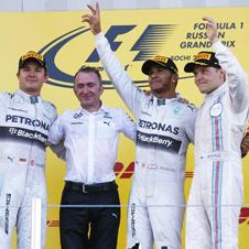 F1第16戦ロシアGP速報、ハミルトン4連勝