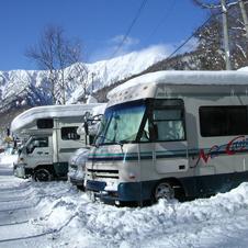 キャンピングカーで冬の旅