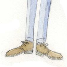 「デザート・ブーツの研究」 コットン・パンツなどに最適