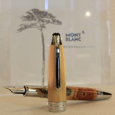 「奇跡の一本松」を万年筆に 陸前高田市とモンブランの思い