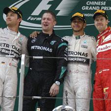 F1第3戦中国GP速報、ハミルトン今季2勝目