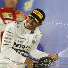 F1第4戦バーレーンGP速報、ハミルトン2連勝で今季3勝目