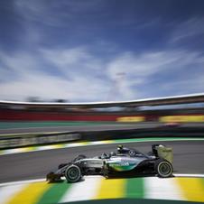 F1第18戦ブラジルGP速報、ロズベルグがポール・トゥ・ウィン