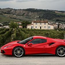 オープントップモデル「フェラーリ488スパイダー」