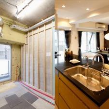 古いマンションが生まれ変わる現場を体験