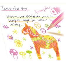 エコで実用的な色鉛筆の蛍光マーカー