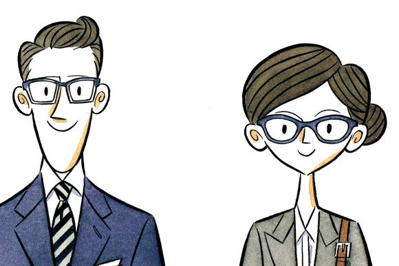 オンとオフ。メガネを替えると、顔が変わる、印象が変わる