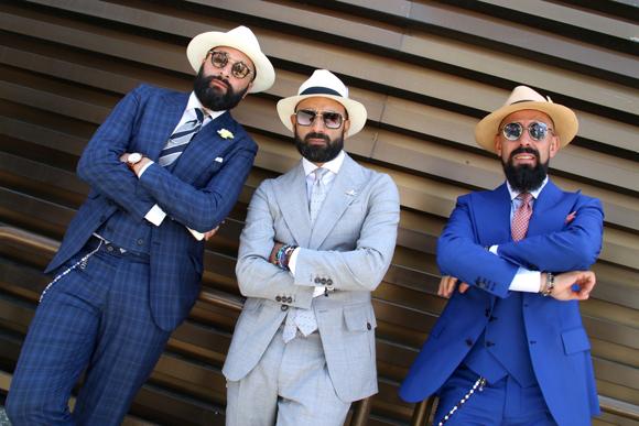 第90回「ピッティ・ウオモ」で見かけたお洒落な紳士たち