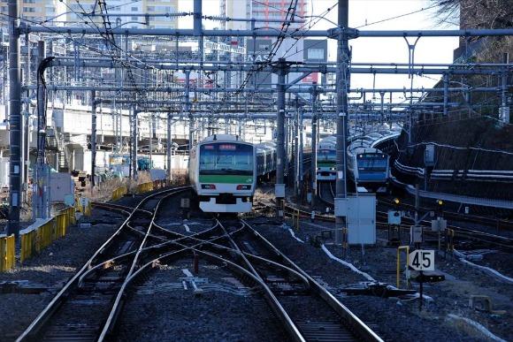西日暮里駅 千代田線乗換駅のみならず各方面線路の要衝地帯