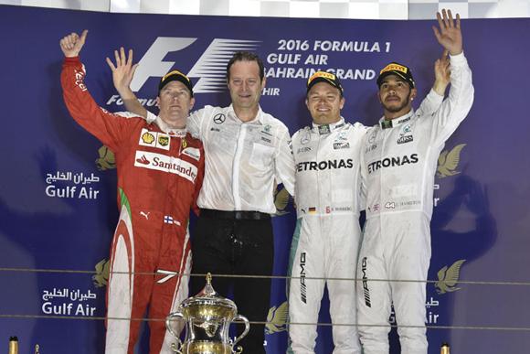 F1第2戦バーレーンGP速報、ロズベルグ2連勝