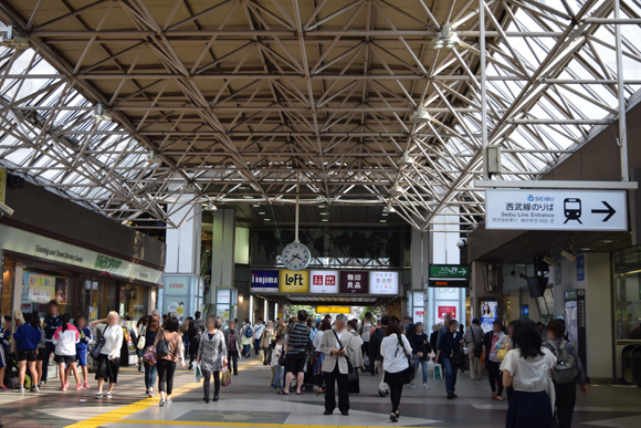 国分寺駅 武蔵野の風景と広大な西武線ワールドの入り口