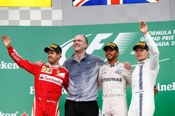 F1第7戦カナダGP速報、ハミルトン2連勝