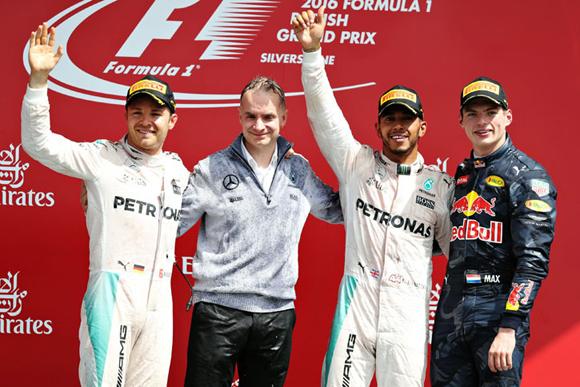 F1第10戦イギリスGP速報、ハミルトン4勝目