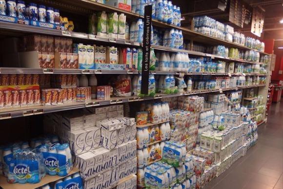 フランスの牛乳は長期&常温保存が一般的