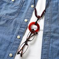 中野伊助 メノウ石の眼鏡ホルダー