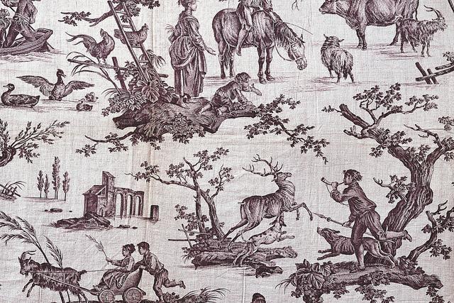 18世紀の西洋更紗「トワル・ド・ジュイ」展