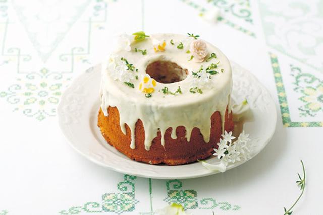 <2>ホワイトチョコとライムのシフォンケーキ