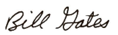 ビル・ゲイツ氏のサイン