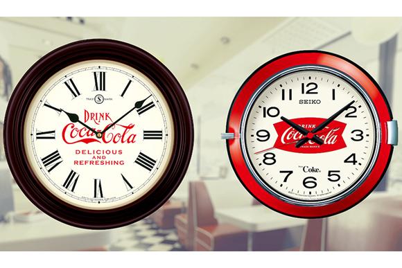 「コカ・コーラ」と「セイコー」のコラボ掛け時計が発売