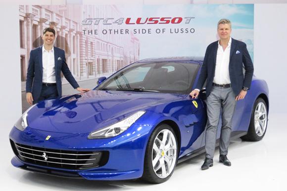 フェラーリがV8ターボ、4人乗り「GTCルッソT」を発表