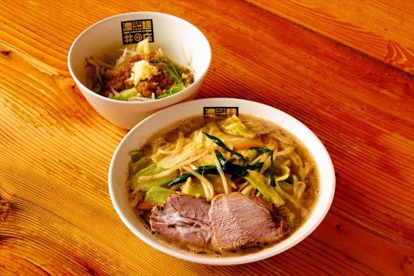名物「ジロベジ」と一緒に楽しむ濃菜麺 古畑星夏さん