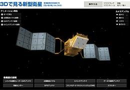 3Dで見る新型衛星「だいち2号」