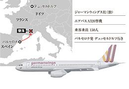 ドイツ旅客機墜落事故の解説アニメーション