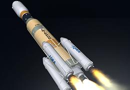 3Dで見るH2Bロケット・こうのとり