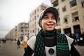 将来の夢は医者だという11歳のカマルさん。アサド政権軍が制圧したアレッポ東部の自宅から逃れ、マサケン・ハナノ地区の集合住宅で家族と新たな生活を始めた=9日午後、アレッポ、矢木隆晴撮影