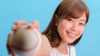 神スイングの稲村亜美さん「投げる方が得意でした」