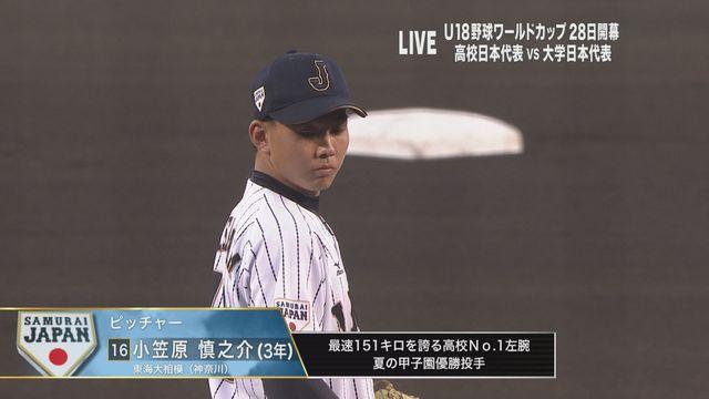 壮行試合 大学日本代表戦