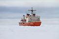 2009~2010年の南極初航海では厚さ4メートルを超える氷海を突き進んだ