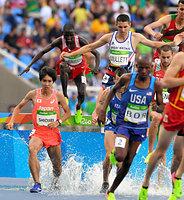 男子3千メートル障害予選に出場した塩尻和也(左)=諫山卓弥撮影