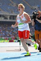 女子ハンマー投げで世界新記録を出して優勝したアニタ・ウォダルチク=諫山卓弥撮影