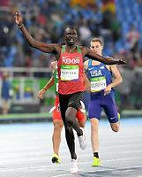 男子800メートルで優勝したルディシャ=諫山卓弥撮影