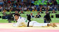 男子60キロ級準々決勝、一本負けした高藤直寿=竹花徹朗撮影