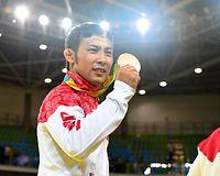 男子60キロ級で銅メダルを獲得した高藤直寿=竹花徹朗撮影