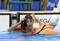 女子100メートルバタフライで6位入賞を果たした池江璃花子=竹花徹朗撮影