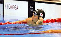 男子100メートル背泳ぎで7位の入江陵介=西畑志朗撮影