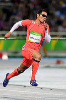 男子400メートル予選で敗退した金丸祐三=諫山卓弥撮影